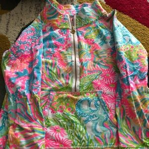 Lilly Pulitzer M popover bright colors  like new